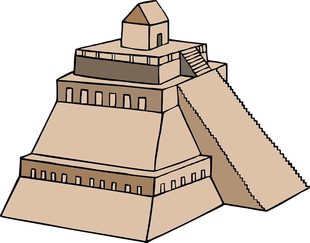 1280x1003 Inca, Building, Asian, Drawing, Transparent