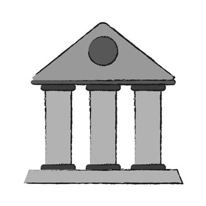 300x300 Old Drawing Building Royalty Free Vectors