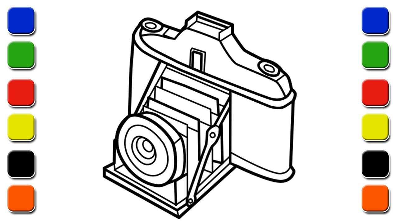 1280x720 Drawing And Painting Old Camera Coloring Pages For Kids Setoys