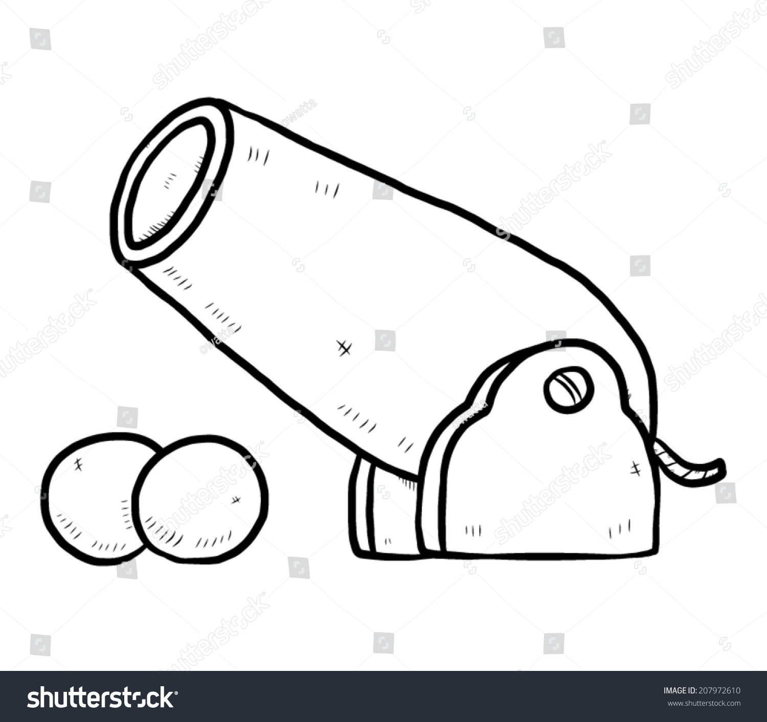1500x1413 Old Cannon Drawing Cannonballs Cartoon Canon Camera Arsenal