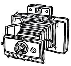 236x222 Old School Camera Hand Drawn Illustration