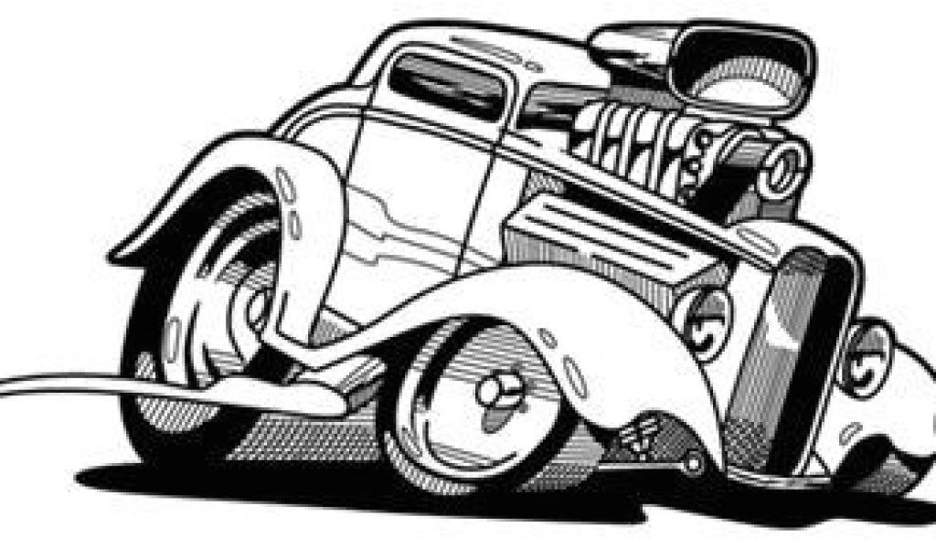 1024x600 Drawing Cartoon Muscle Cars Old Muscle Car Cartoon Drawings