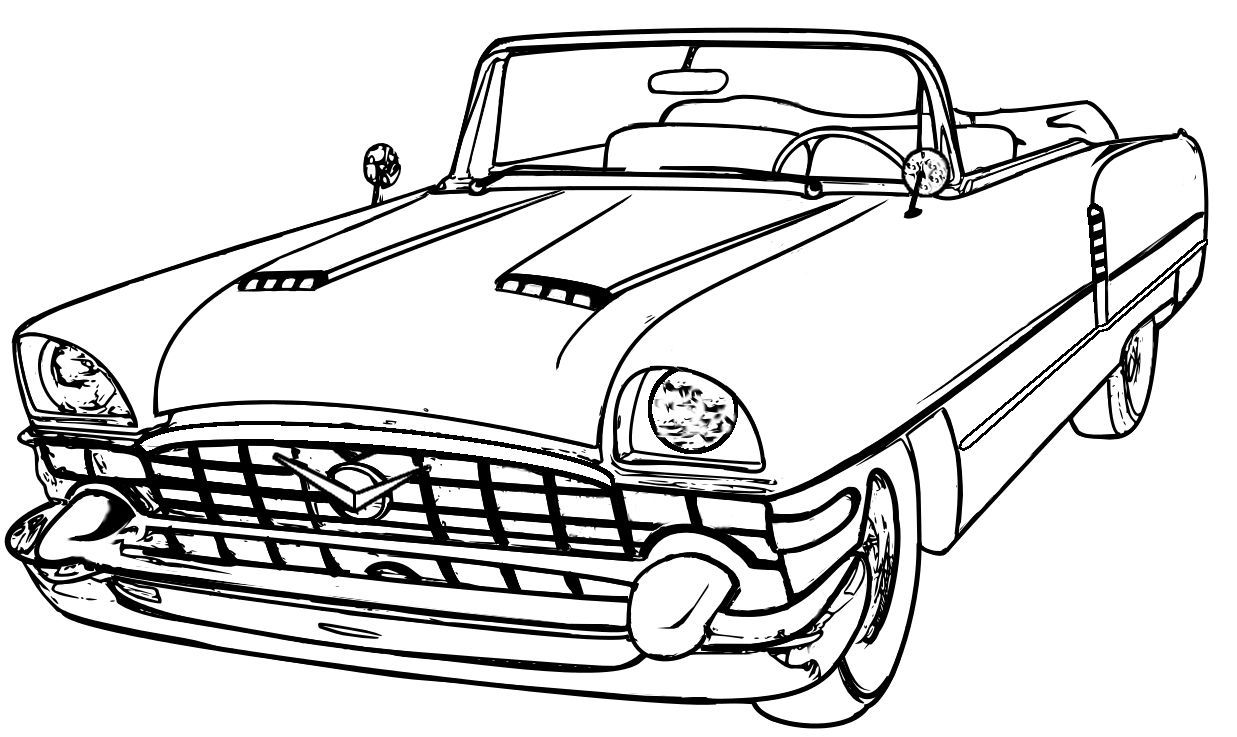 1237x737 Drawing Old Car Outline