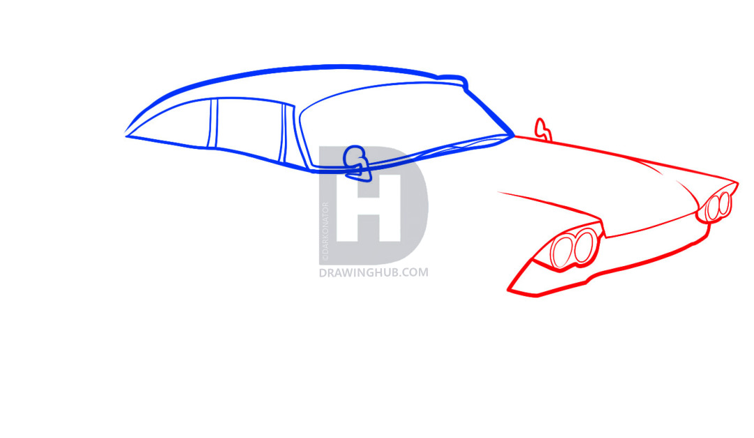 1080x627 How To Draw An Old Car, Old Car, Step