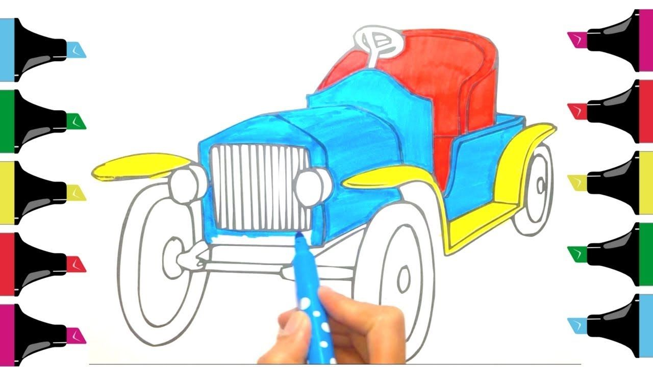 1280x720 How To Color Car Drawing