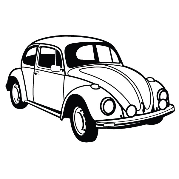 600x600 Old Car Clipart Black And White