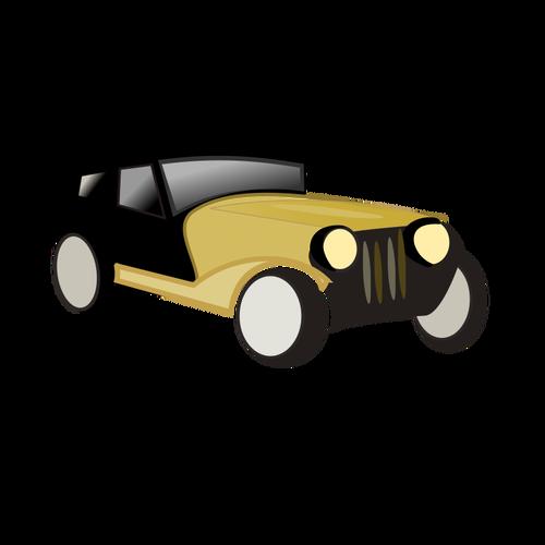 500x500 Old Car Cartoon Vector Drawing