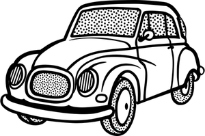 300x199 Free Car Line Drawing Vector