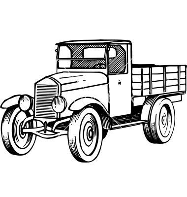 380x400 Old Truck Vector Boys' Room Project Car Vector, Car, Old Cars