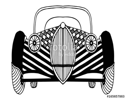 500x394 Vintage Retro Classic Old Car Vector Illustration Stock Photo