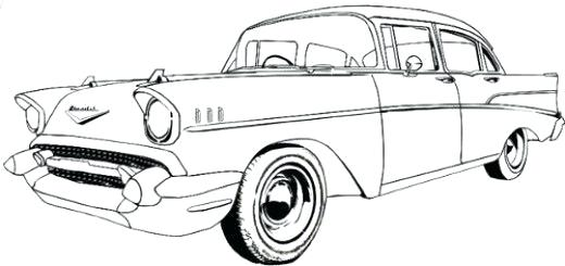 520x245 Car Sketches For Coloring