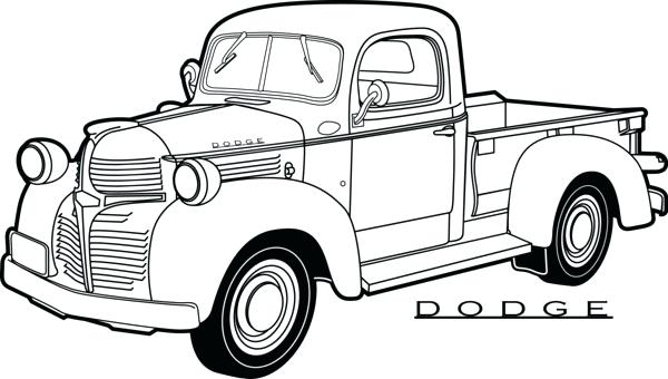 600x340 Car And Truck Drawings Old Car Truck Drawings