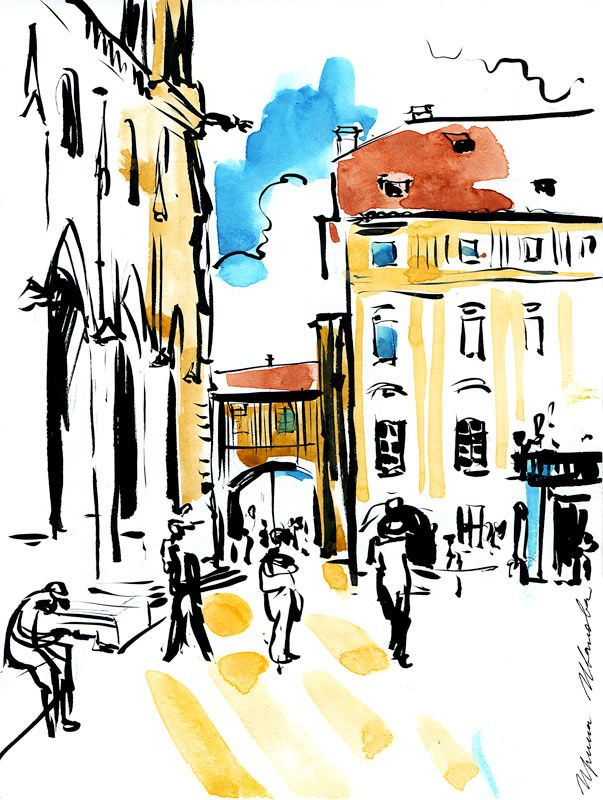Old City Drawing