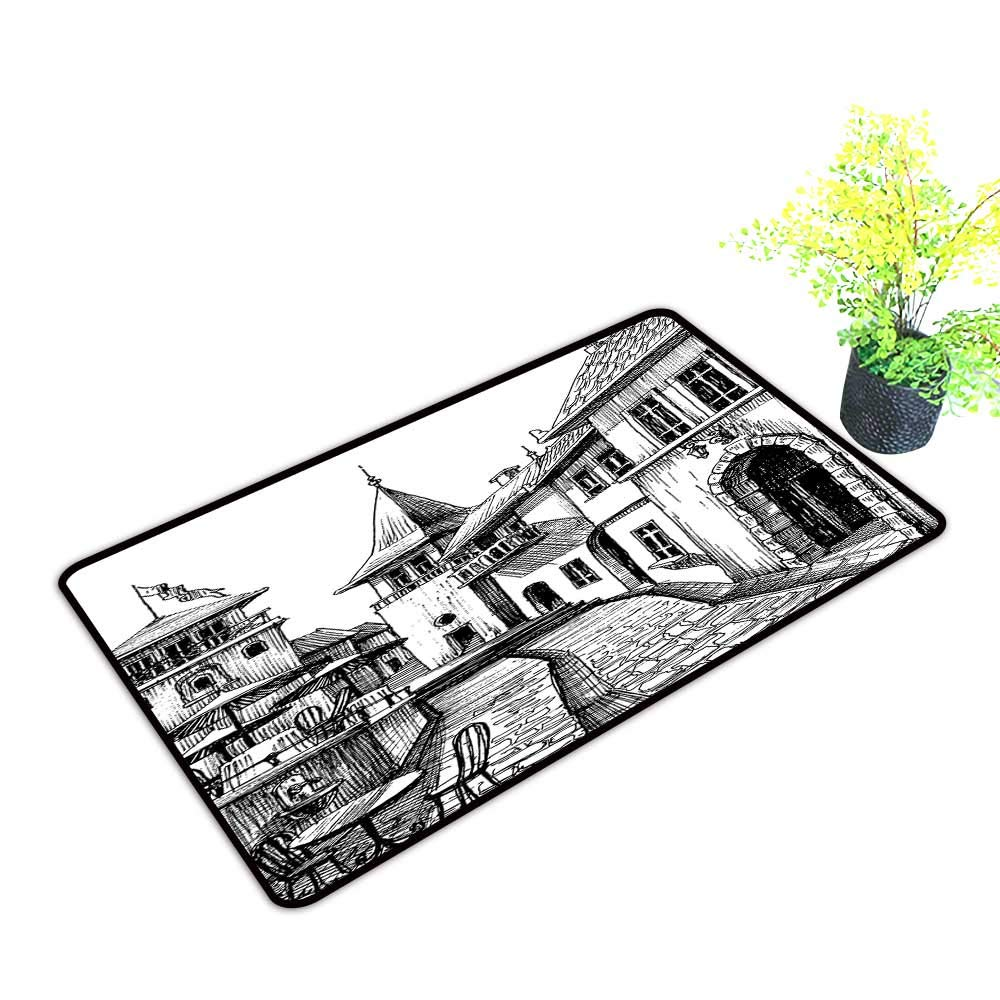 1000x1000 Gmnalahome Super Absorbs Mud Doormat Old Peaceful City