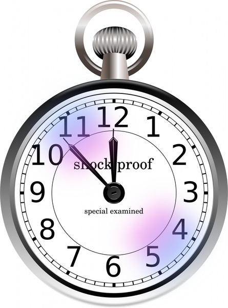 445x600 Old Pocket Watch Free Vector In Open Office Drawing