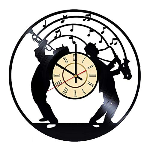 500x500 Jazz Music Vinyl Clock Gift For Relax Music Fans Wall