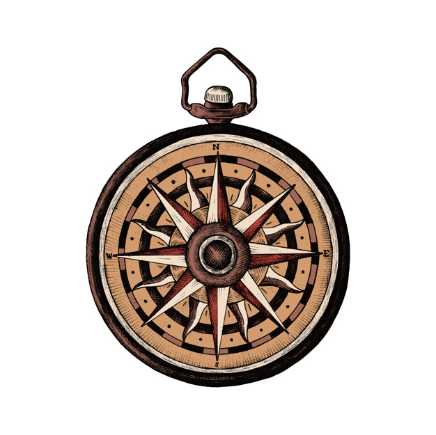 626x625 Free Download Hand Drawn Classic Compass