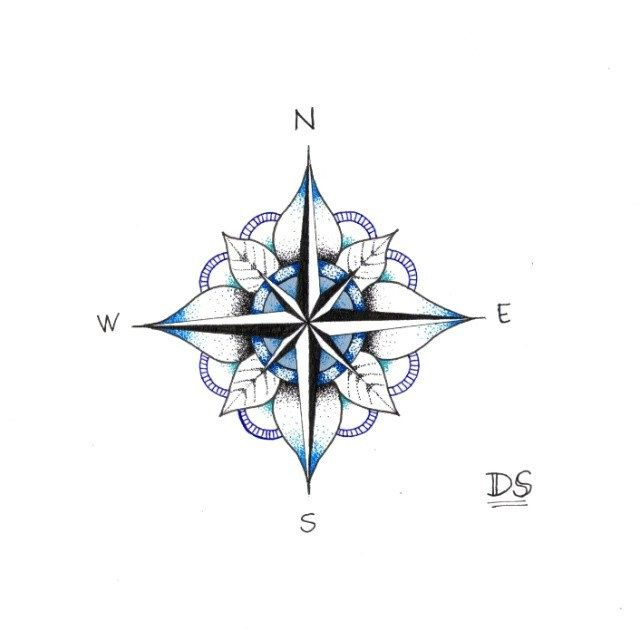 640x640 Mariner's Compass Tattoo