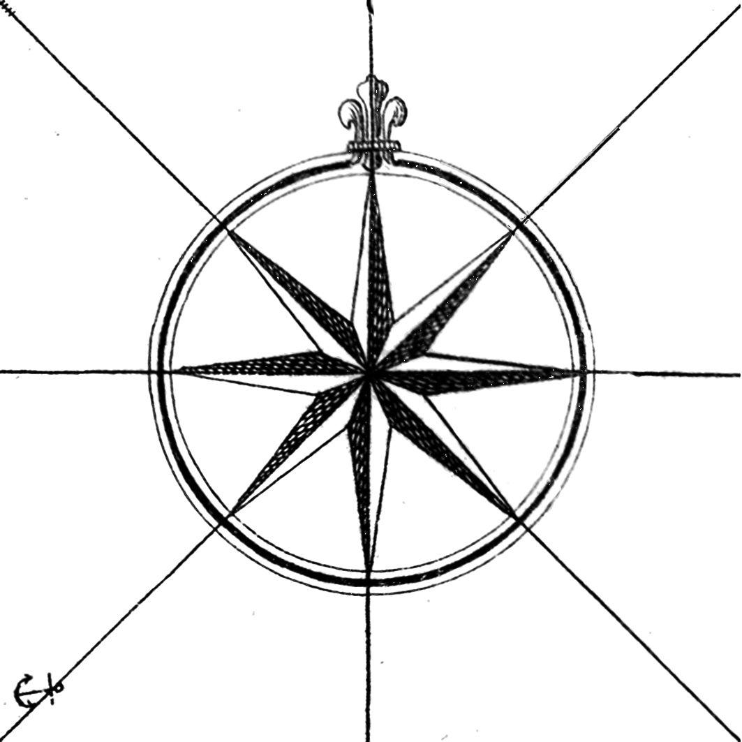 1063x1063 Vintage Map Compass Graphic Printable Decor Tatoo Designs