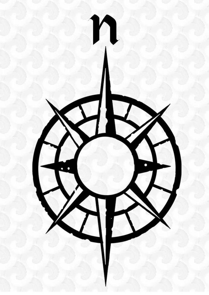794x1117 Clip Art Map Compass Clip Art Silhouette Png Graphics Etsy