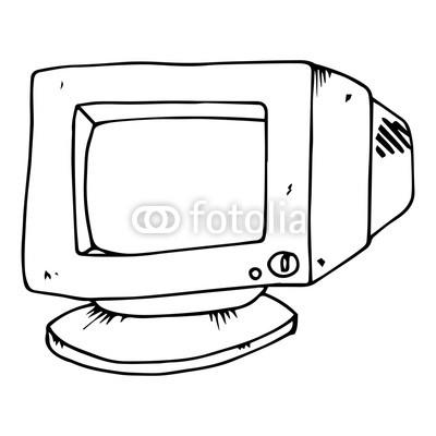400x400 old computer monitor crt monitor vector illustration buy