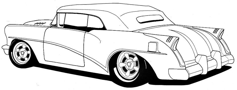 940x358 Line Drawing Of Old Cars Hot Rods Sacramentoclassic Carsmuscle