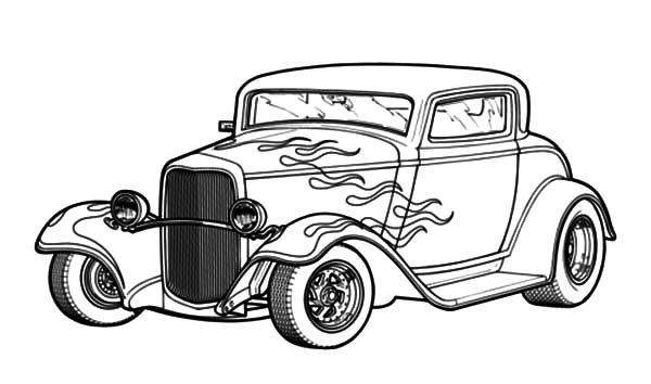600x354 Muscle Car Hot Rod Drawings