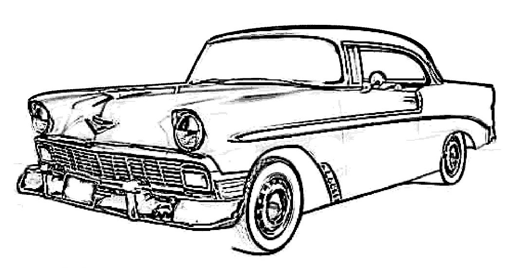 1056x550 Old Car Coloring Pages Fun Time
