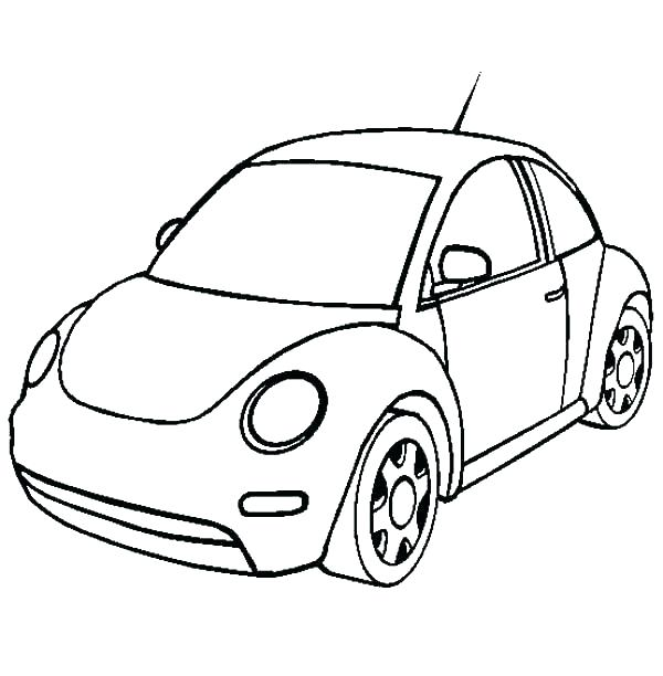 600x612 Old Cars Coloring Pages