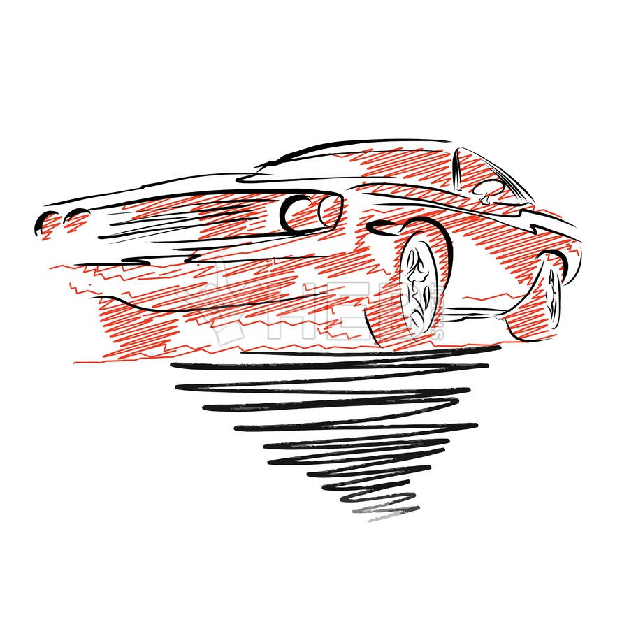 900x900 Vintage Muscle Car Drawing Hebstreit