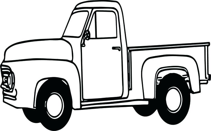 700x434 pickup truck coloring pages printable old ford pickup coloring