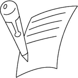 300x300 old paper clipart pen and paper