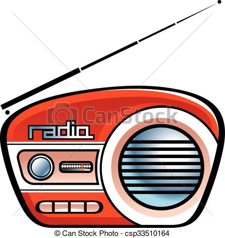445x470 radio speaker illustration of the old retro radio speaker