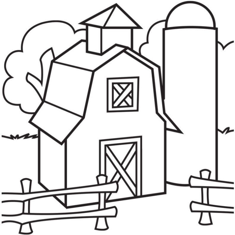 792x792 old barn coloring pages coloring pages barn coloring