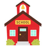 150x150 Old School House Clipart Drawing