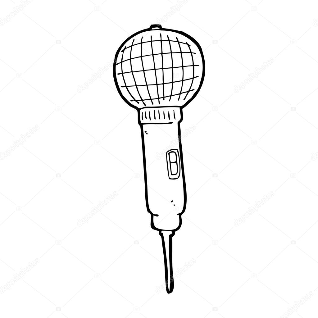 Old School Microphone Drawing