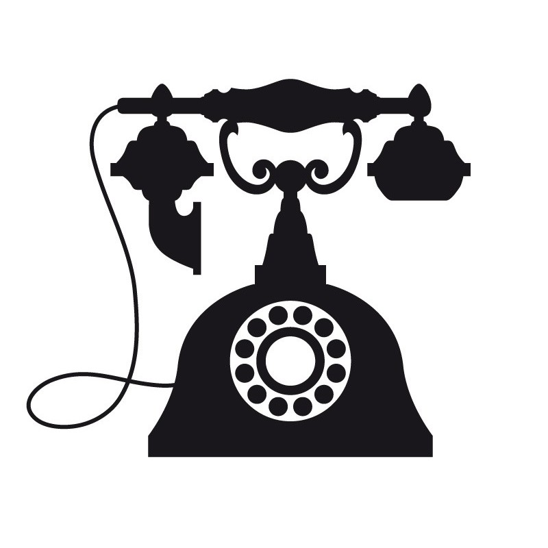 800x800 Old Telephone Clipart Black And White
