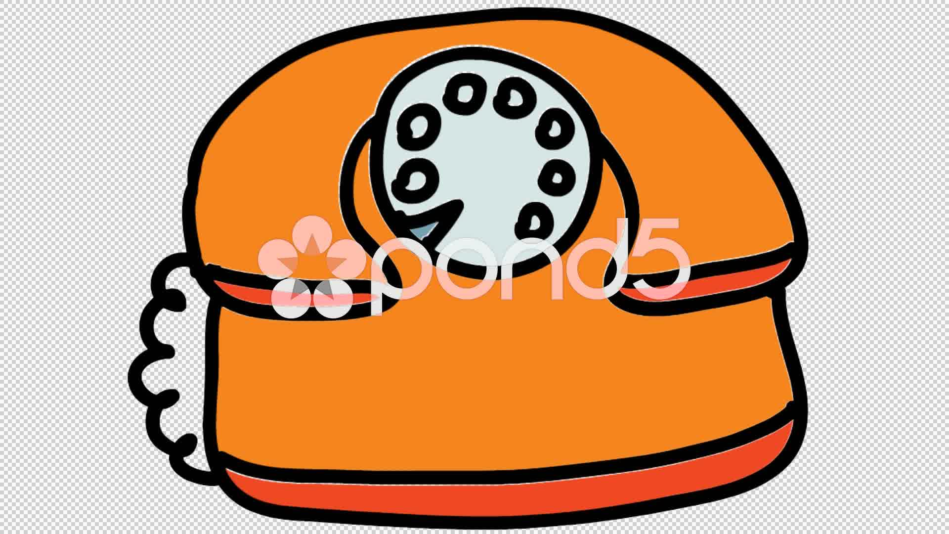 1920x1080 Old Telephone Cartoon Line Drawing Illustration Animation
