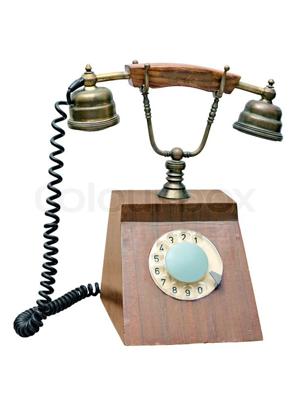 600x800 Old Wired Telephone Stock Image Colourbox