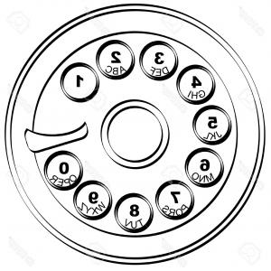 300x300 Photostock Vector Vintage Disc Phone Old Green Telephone S Rotary
