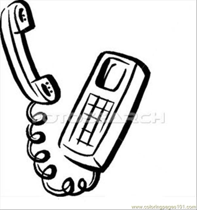 650x693 Telephone Free Coloring Pages, Telephone Coloring Pages