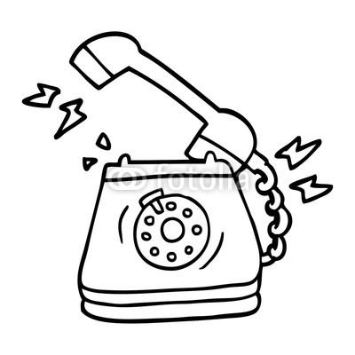 400x400 Line Drawing Cartoon Old Rotary Dial Telephone Buy Photos Ap