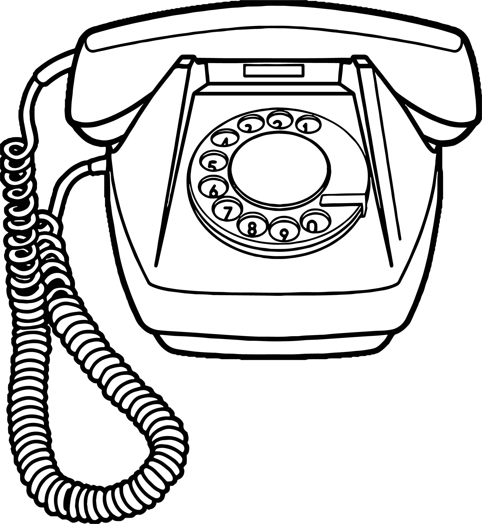 1954x2123 Any Old Telephone Coloring