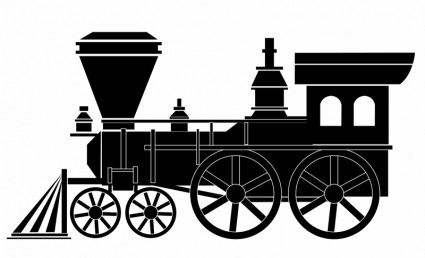 425x258 old train cards train vector, train drawing, train silhouette