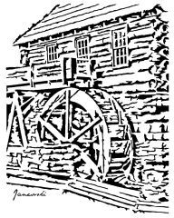 Old Village Drawing