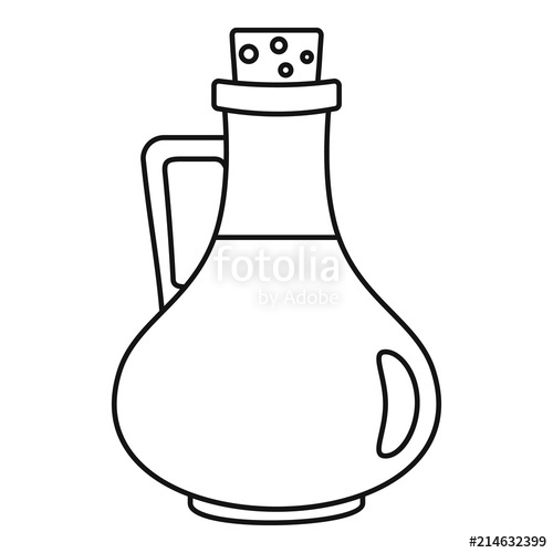 500x500 italian olive oil bottle icon outline illustration of italian