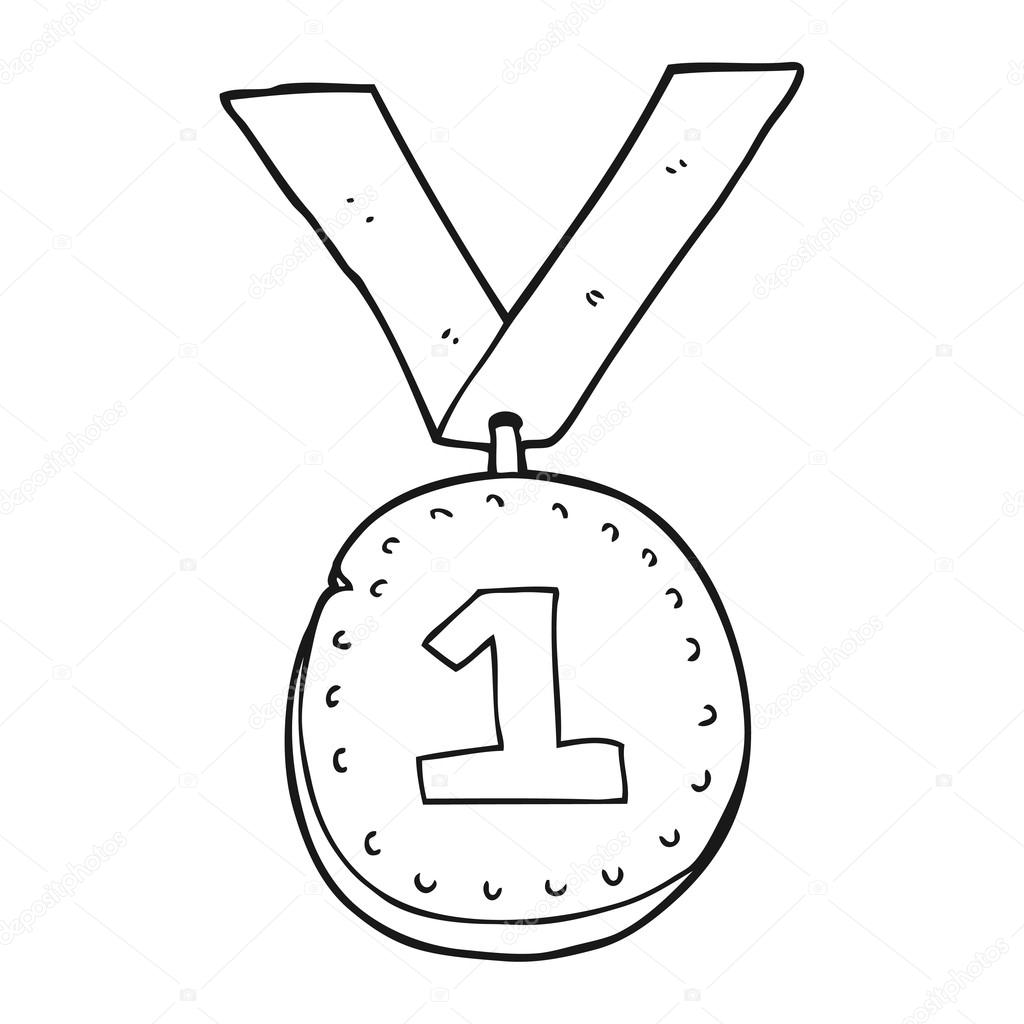 1024x1024 medal drawing first place medal for free download