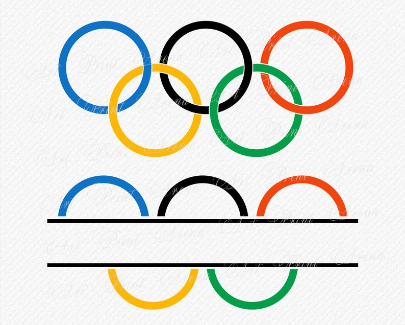 794x636 olympic rings logo cutting olympic rings monogram etsy