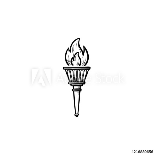 500x500 olympic torch hand drawn outline doodle icon olympic games