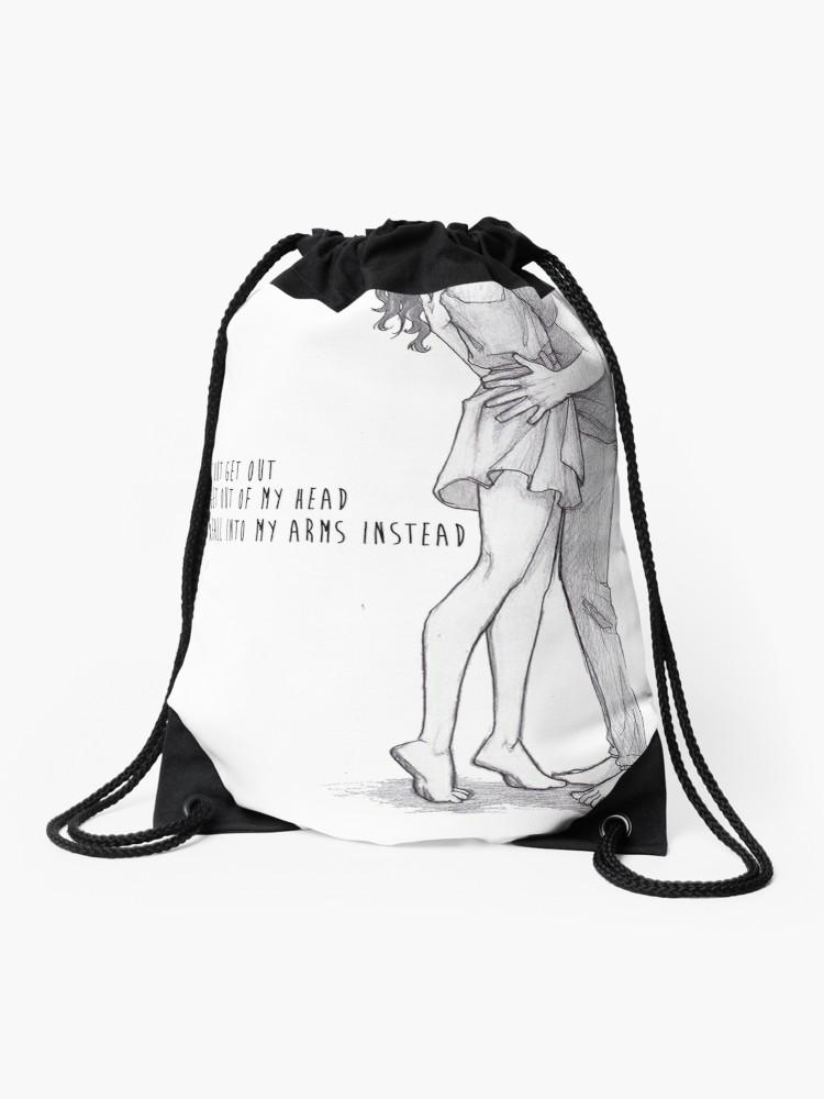 750x1000 One Direction Lyricsdrawing Drawstring Bag